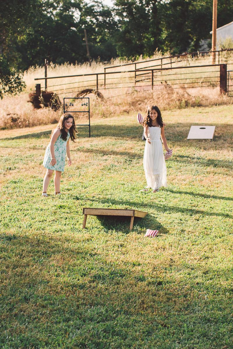wedding bean bag toss