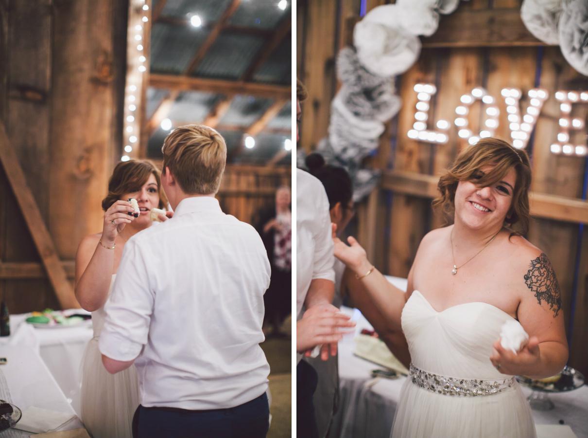 lesbian wedding cake cutting