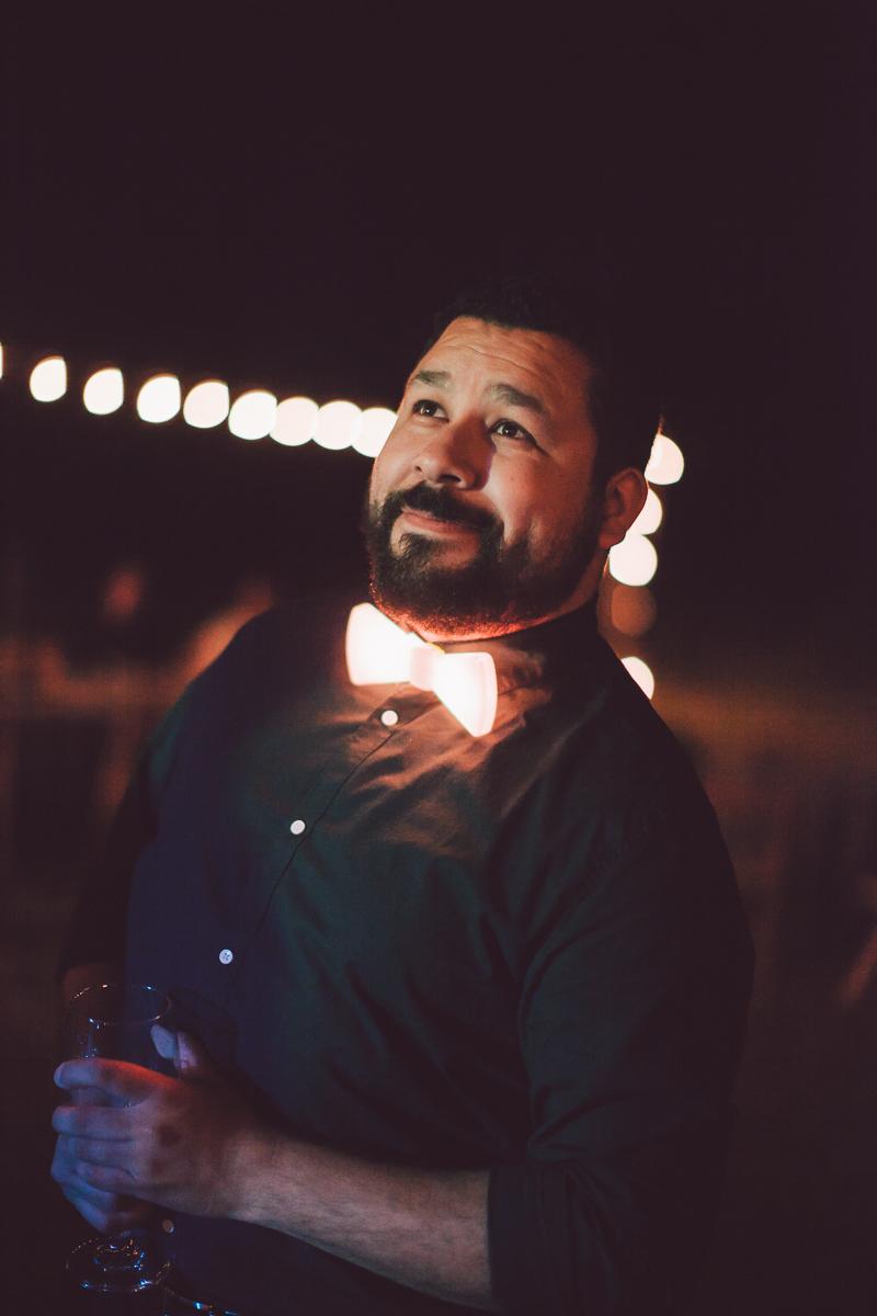 glowstick bowtie wedding