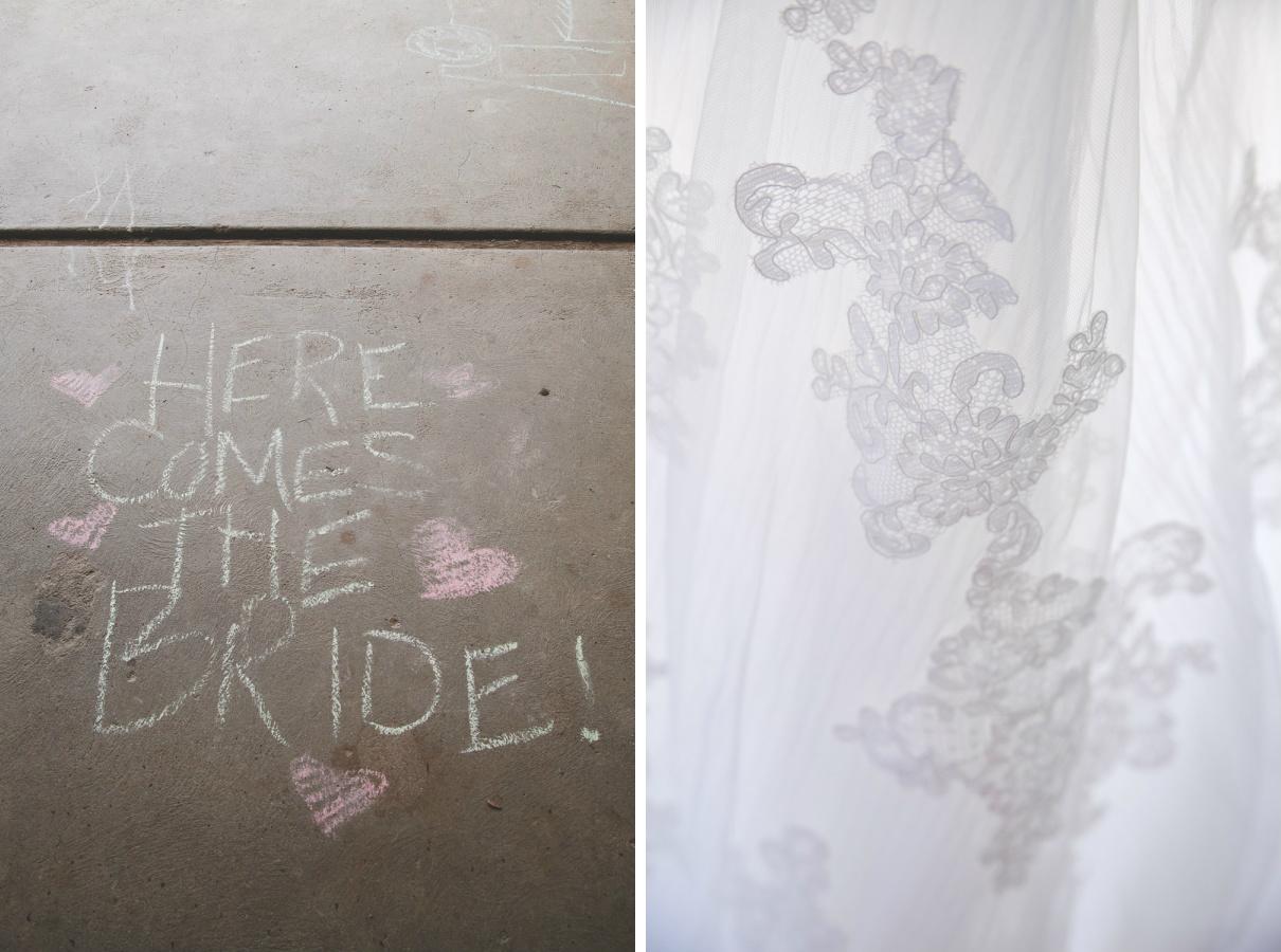 wedding chalk art