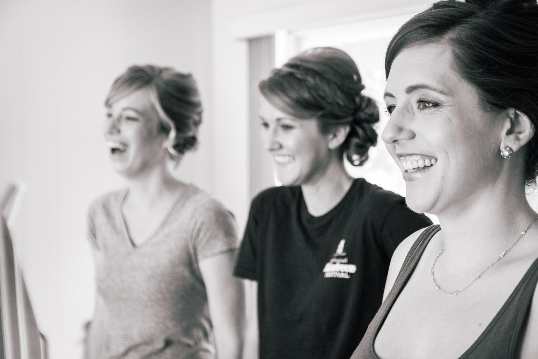 bridesmaids black and white