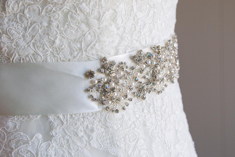 jeweled belt wedding dress