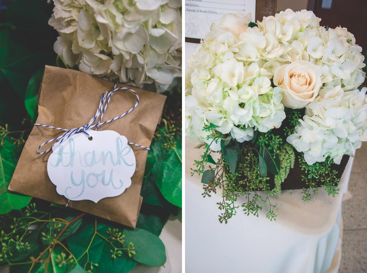 homemade paper bag wedding favor