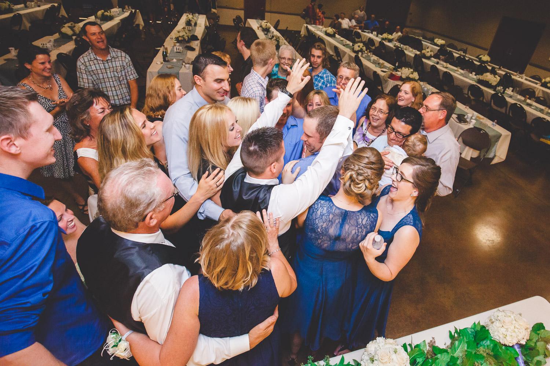 wedding hug mob