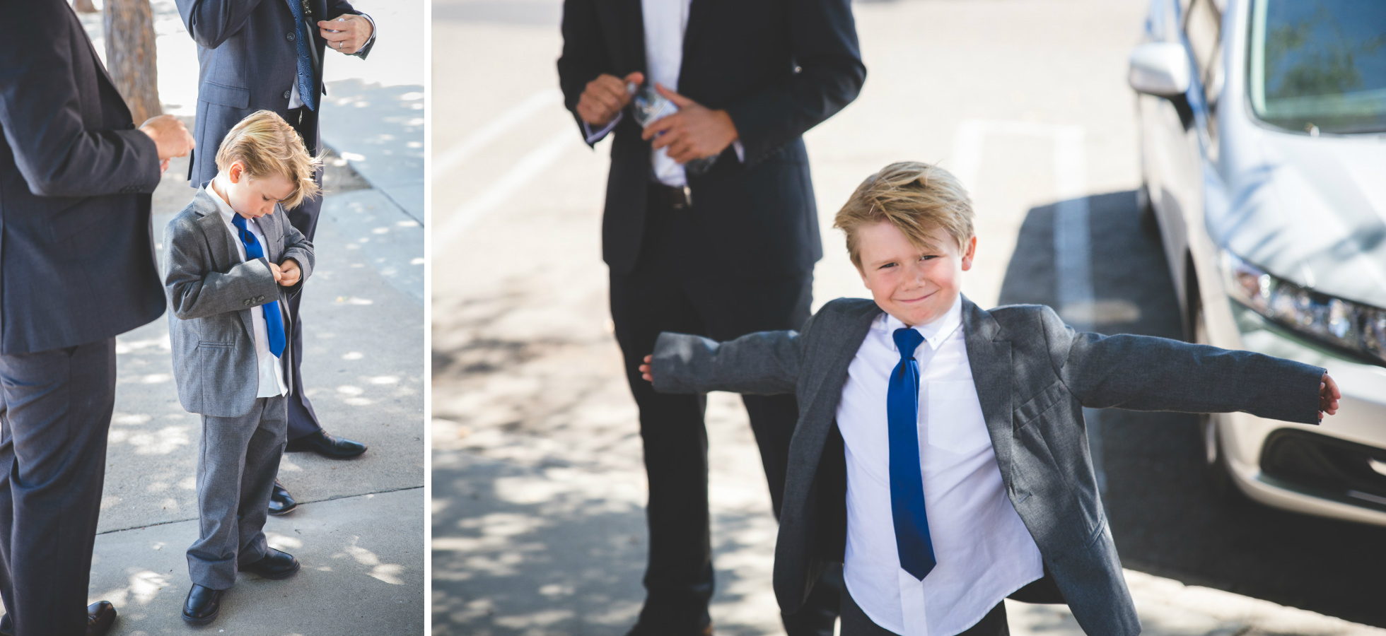ring bearer blue tie