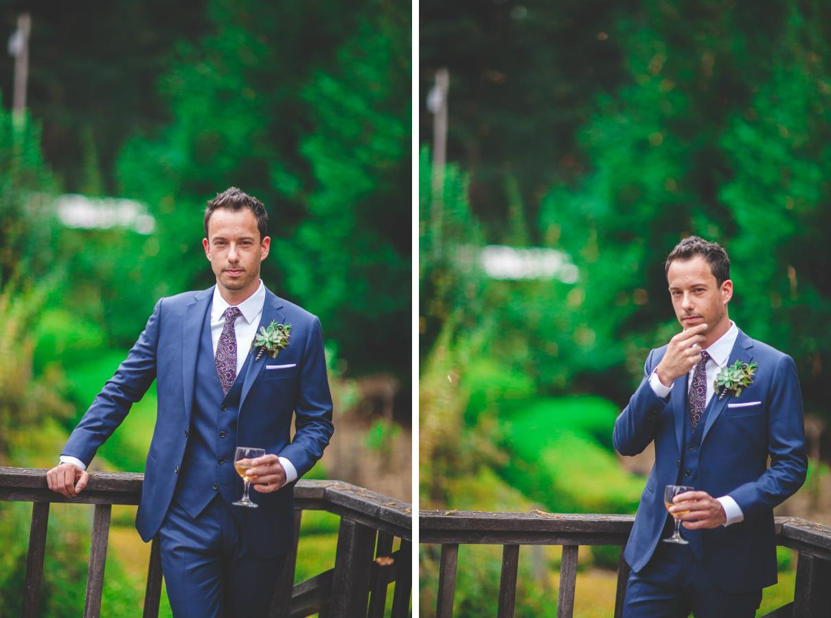 succulent boutonniere groom