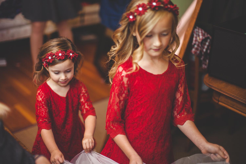 flower girls christmas wedding