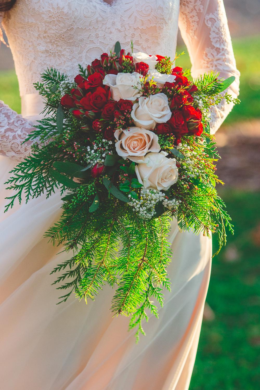 christmas wedding bouquet