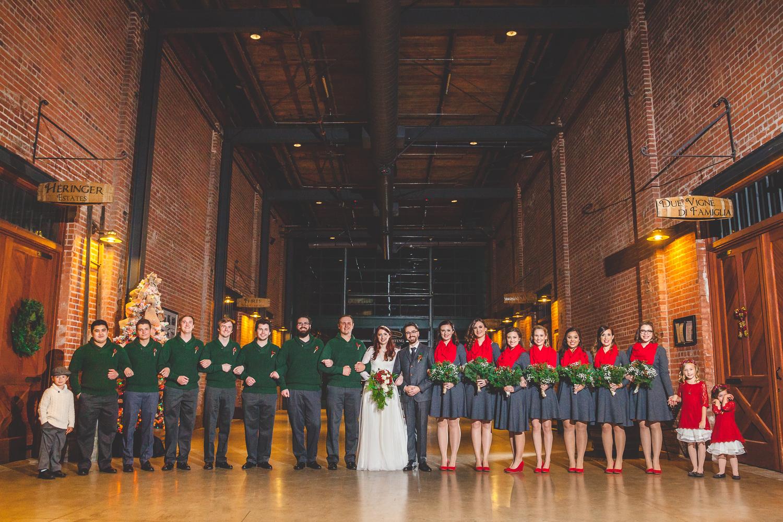 old sugar mill indoor wedding