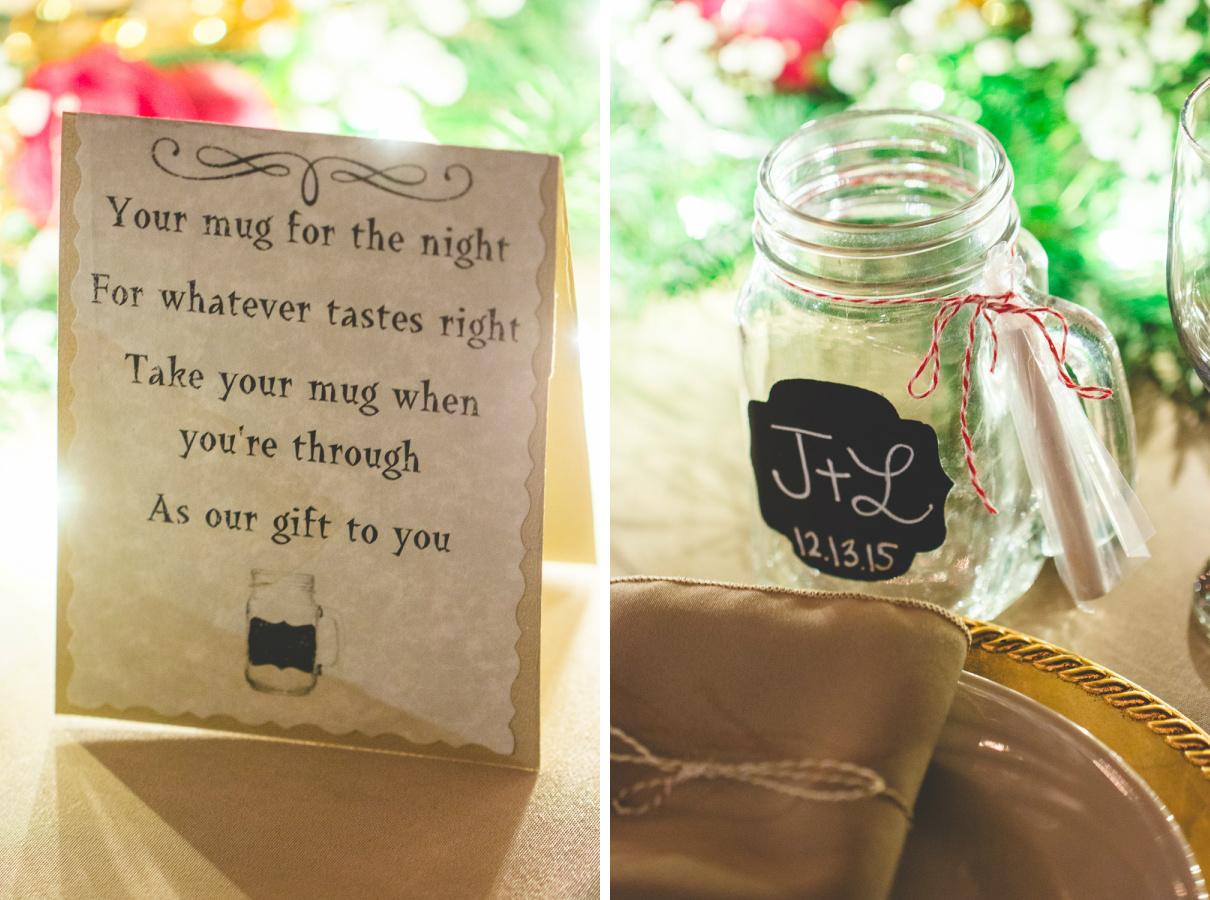 mason jar mug wedding favor