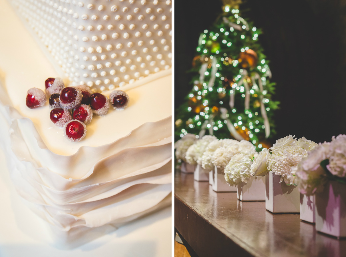 christmas wedding cranberries