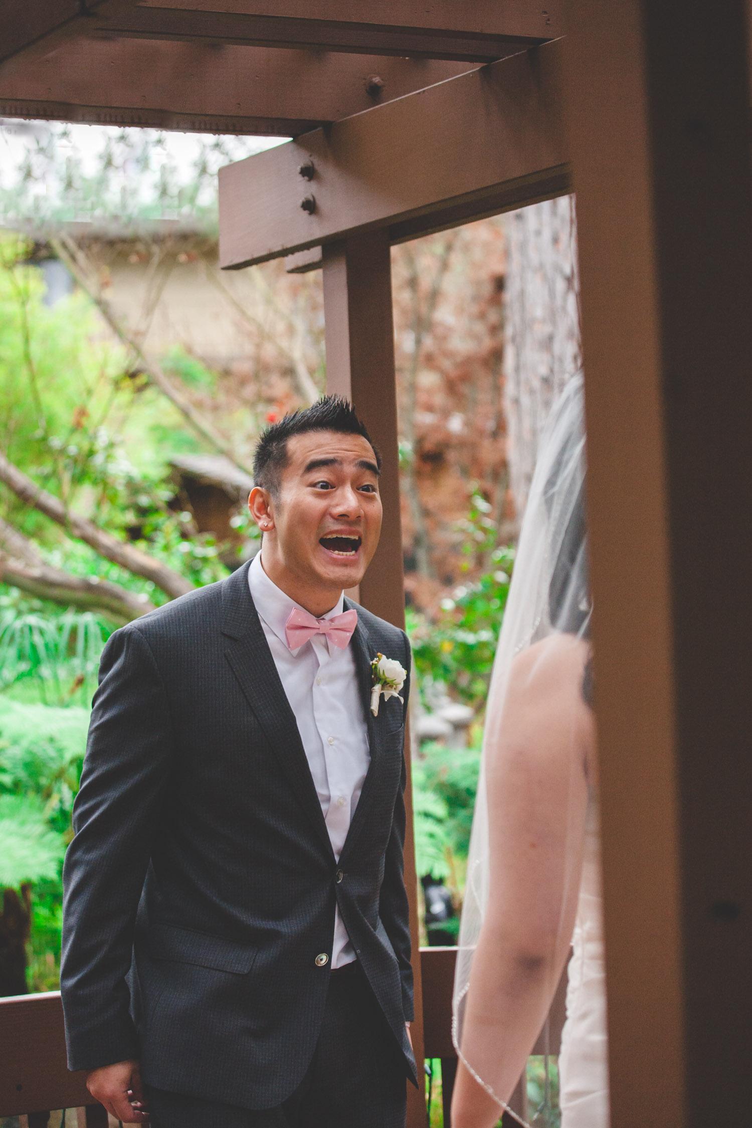 best first look groom reaction