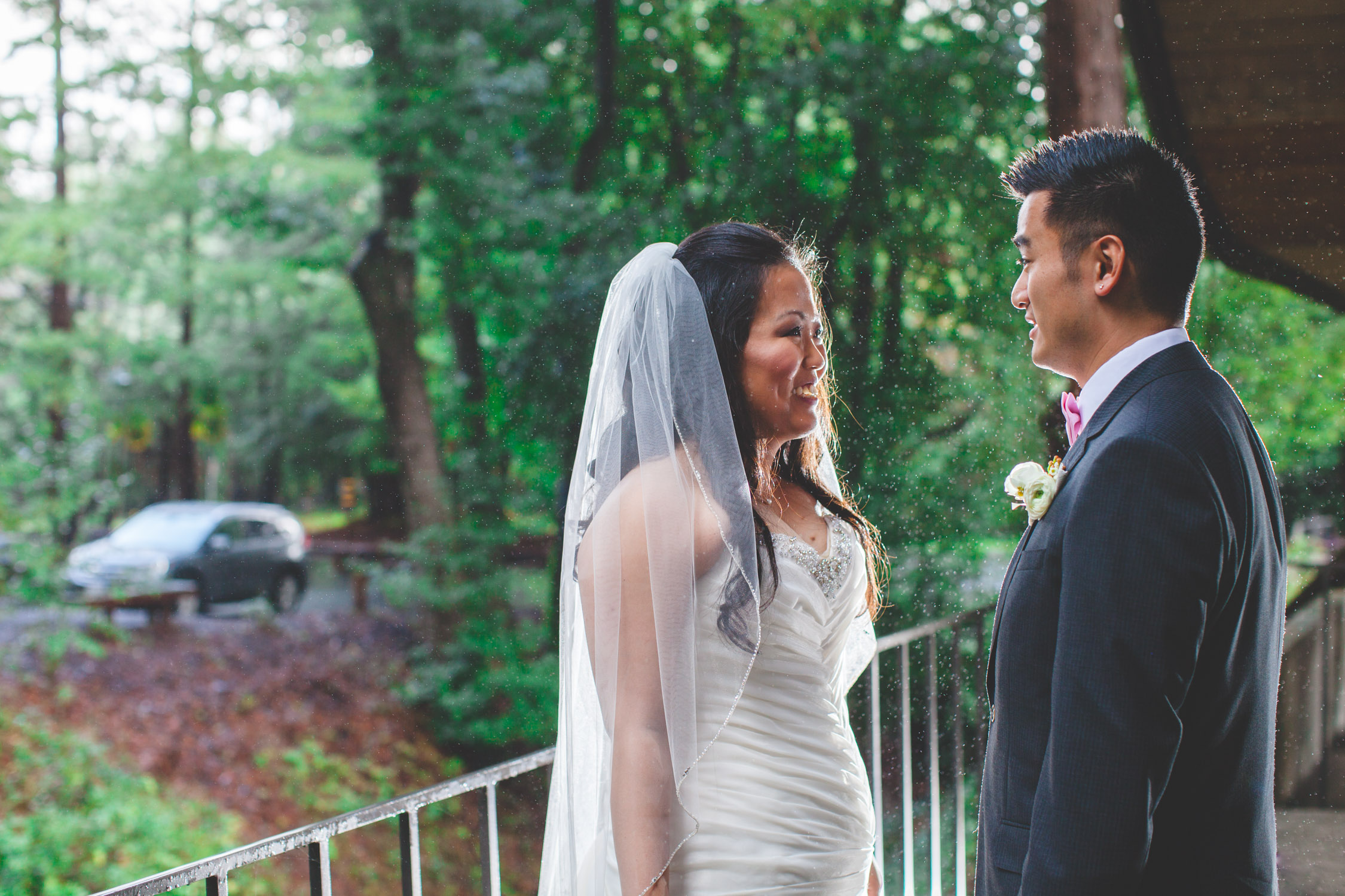 rainy modesto wedding