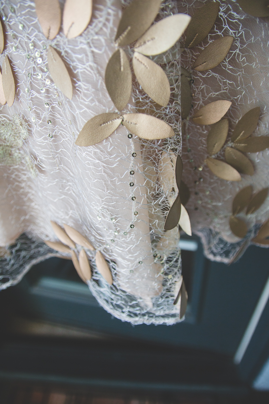 chotronette wedding dress detail