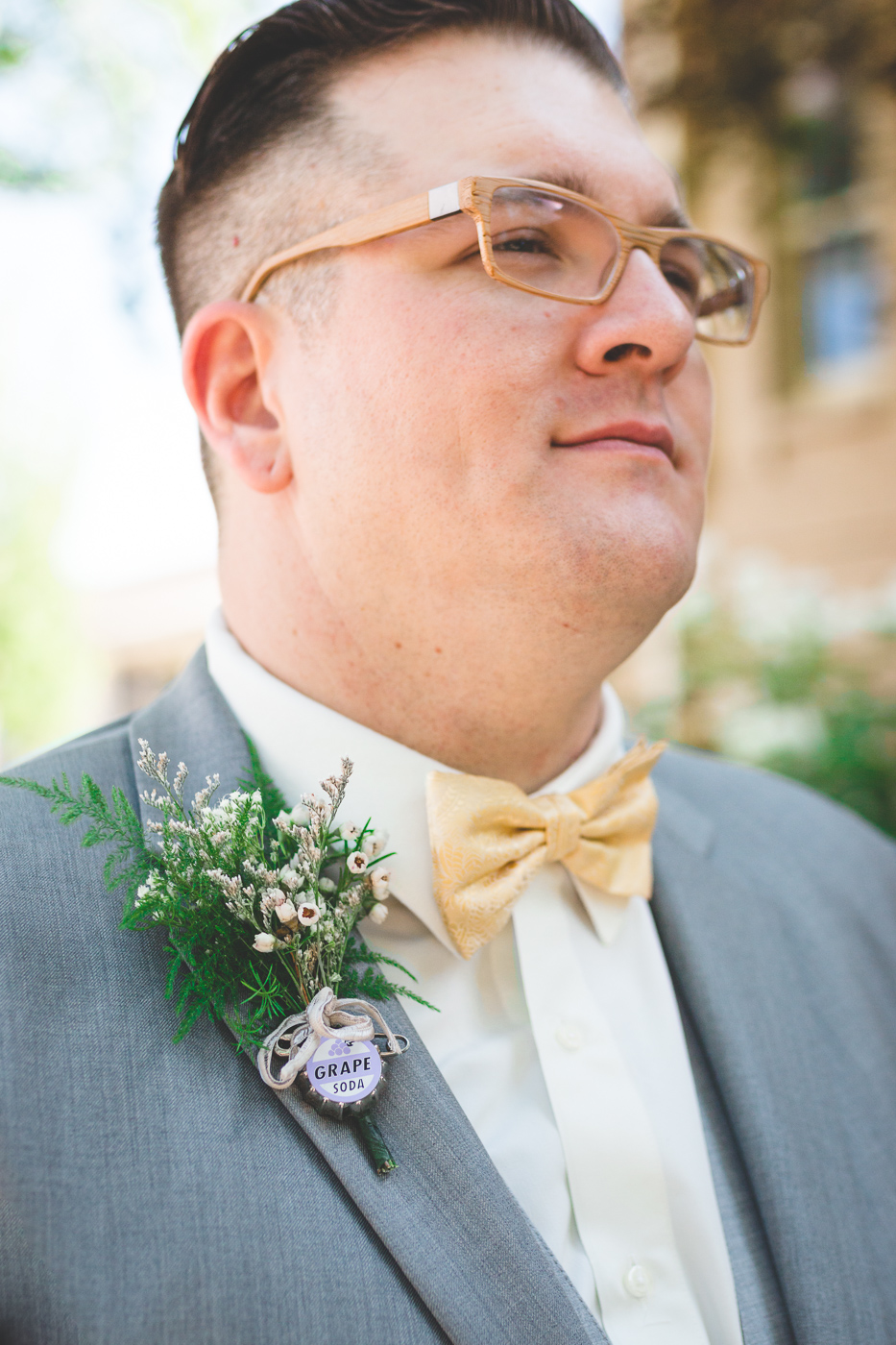 up grape soda boutonniere