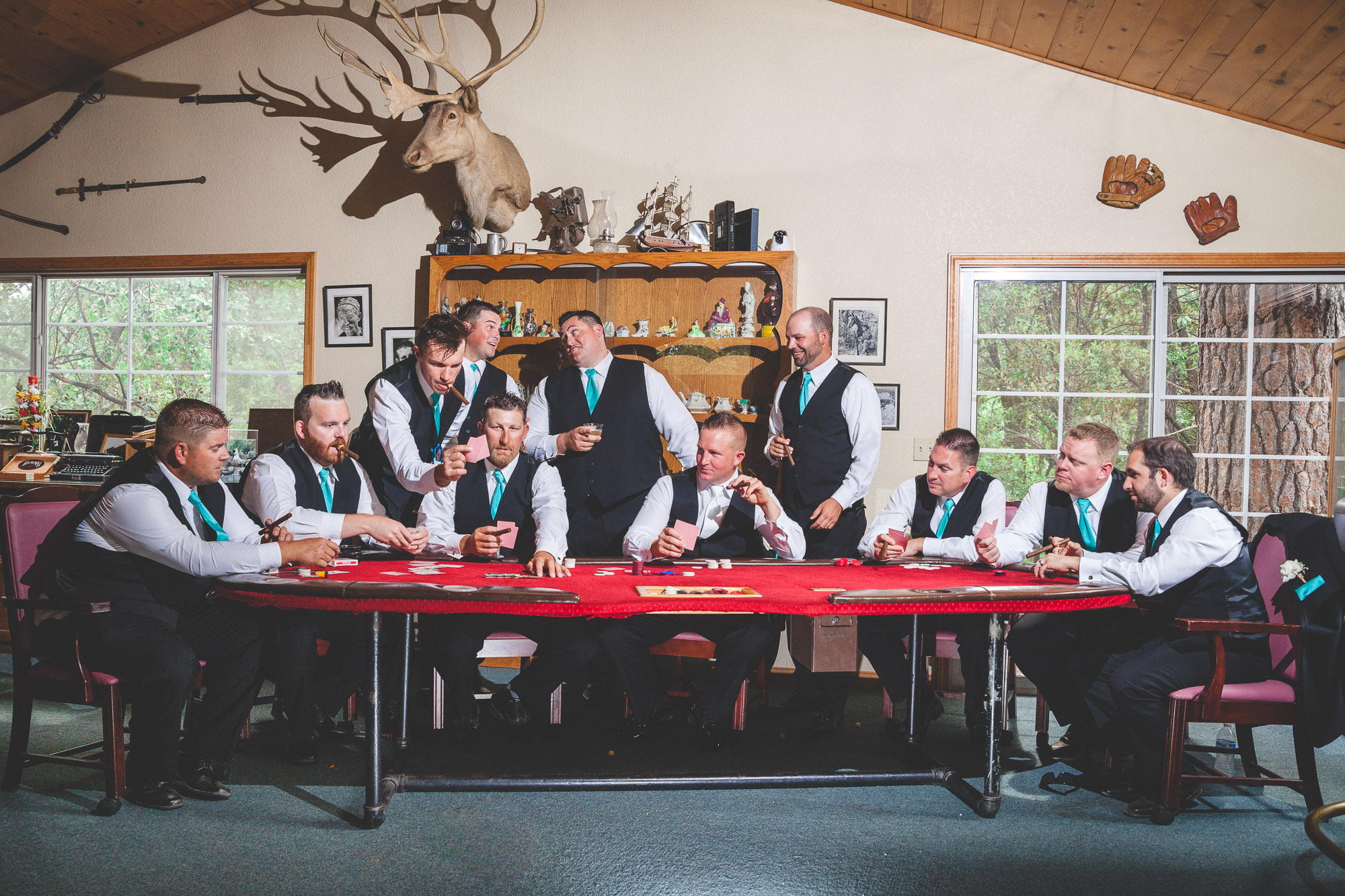 hunting lodge wedding