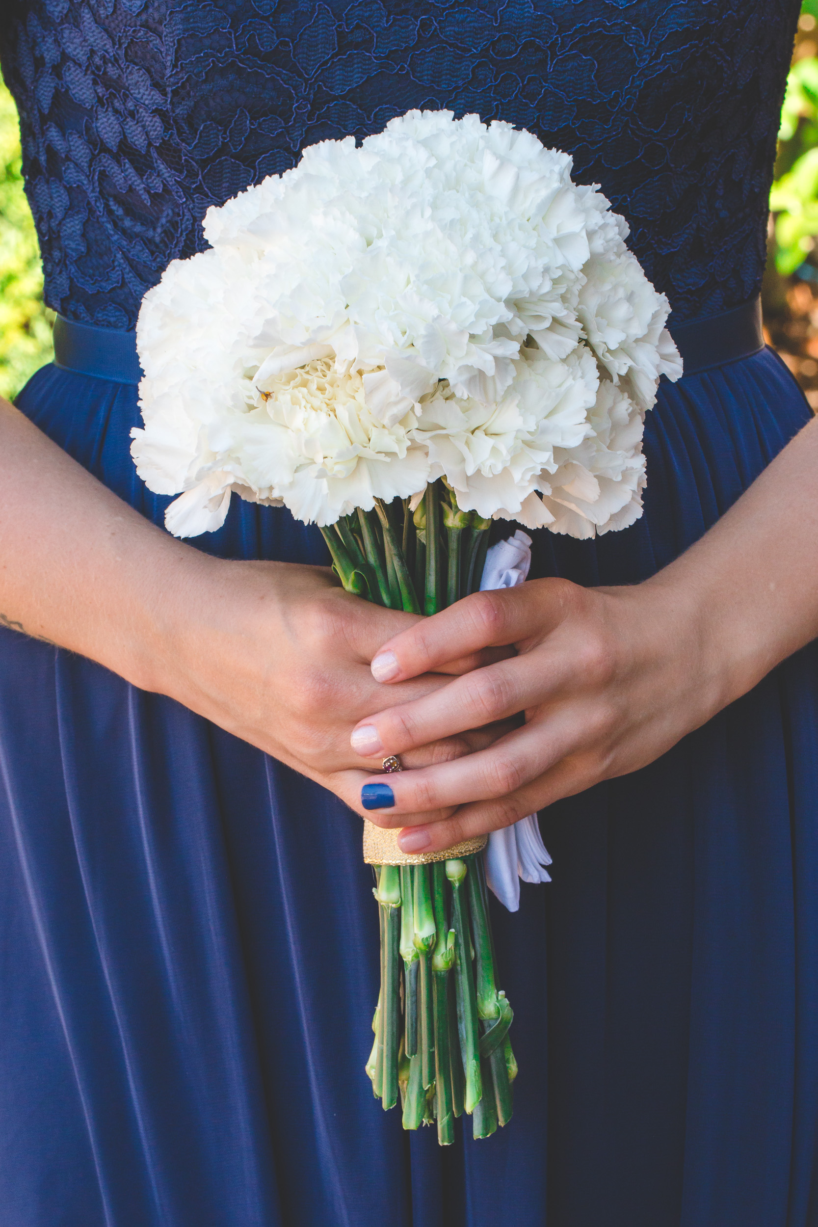 white carnation bouquet