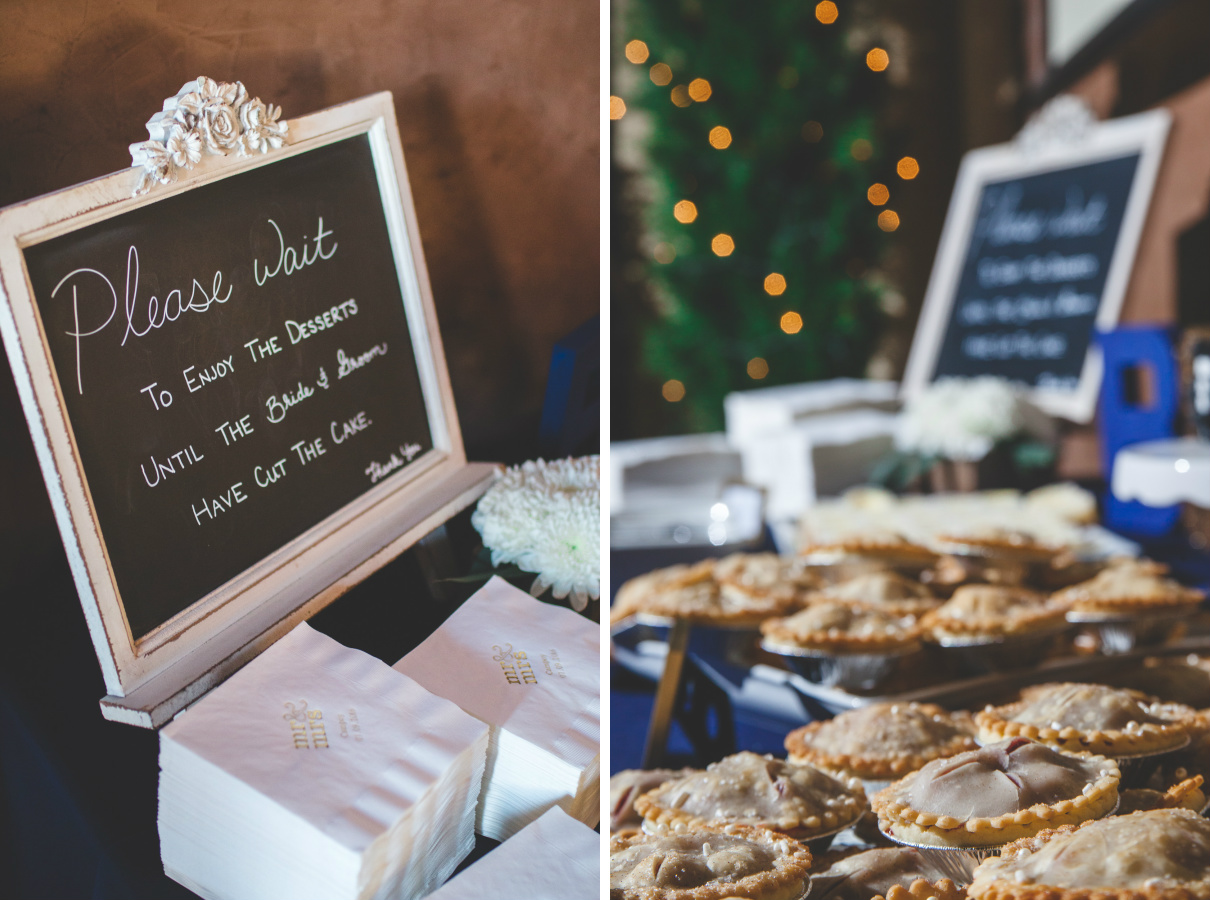 wedding mini pies