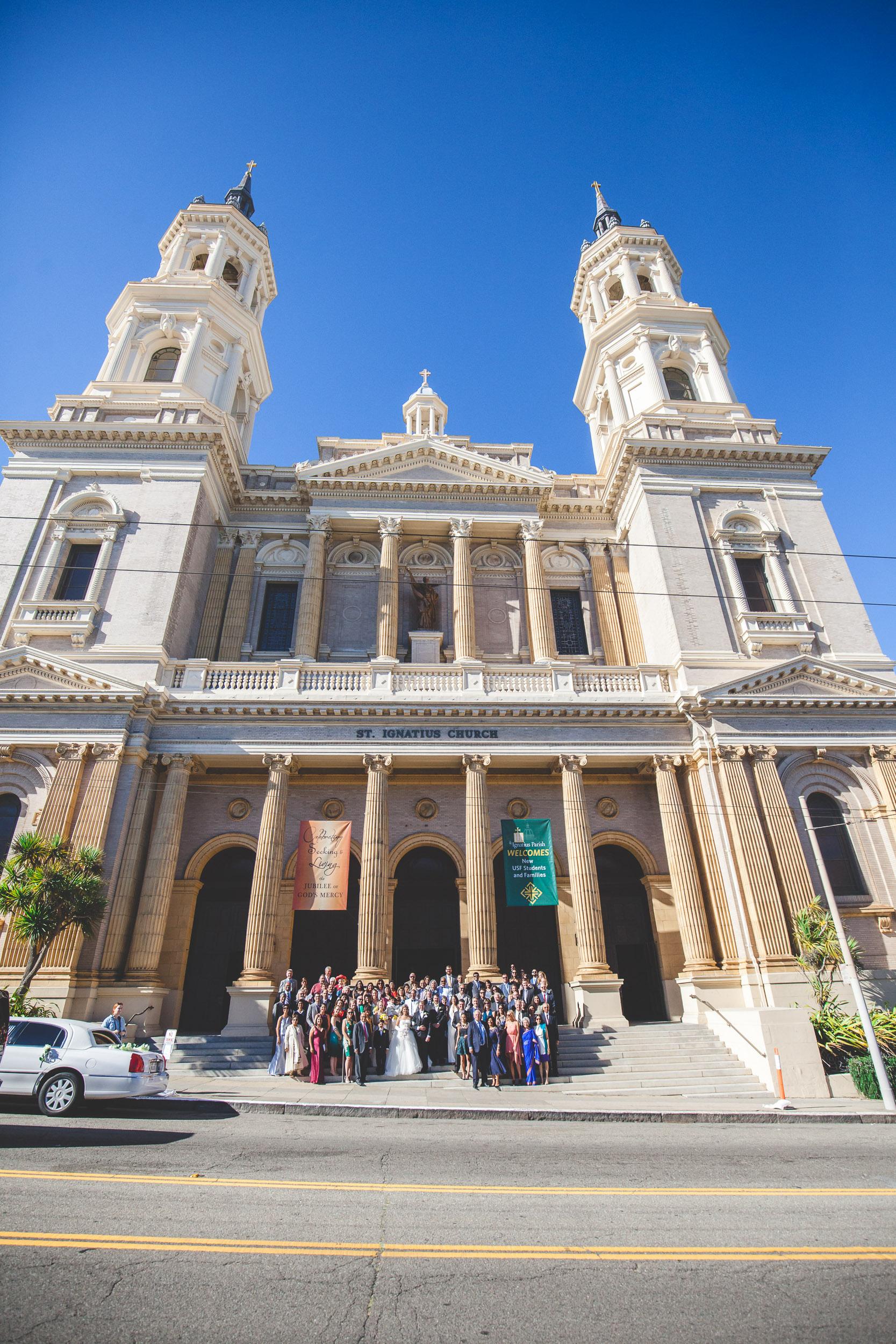 saint ignatius church wedding san francisco