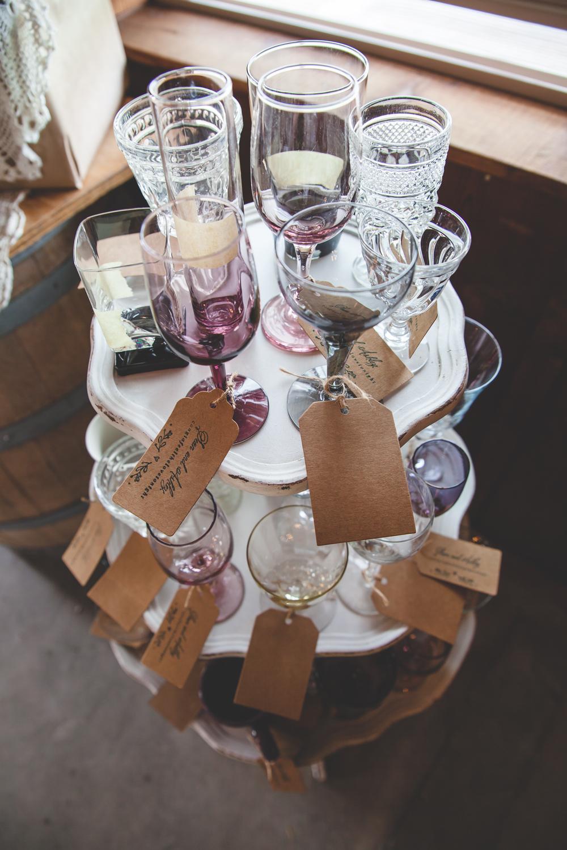 purple wedding glass