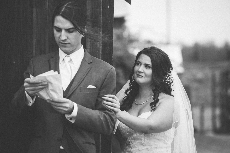 bride groom letter exchange