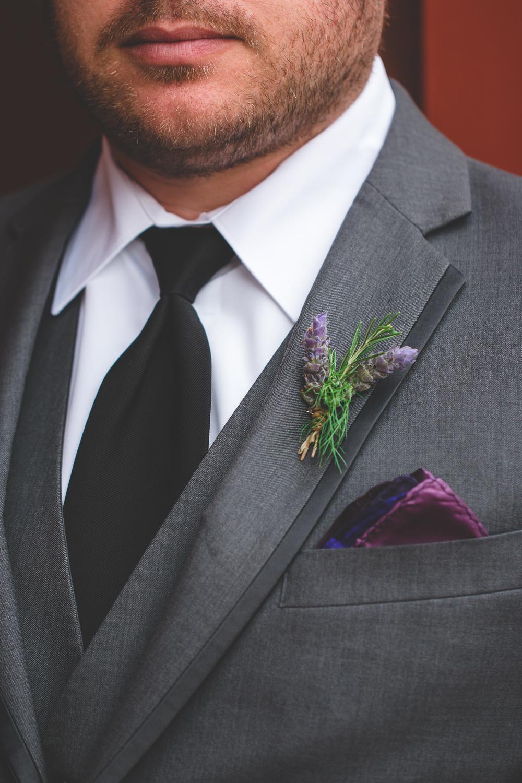 purple groom pocket square