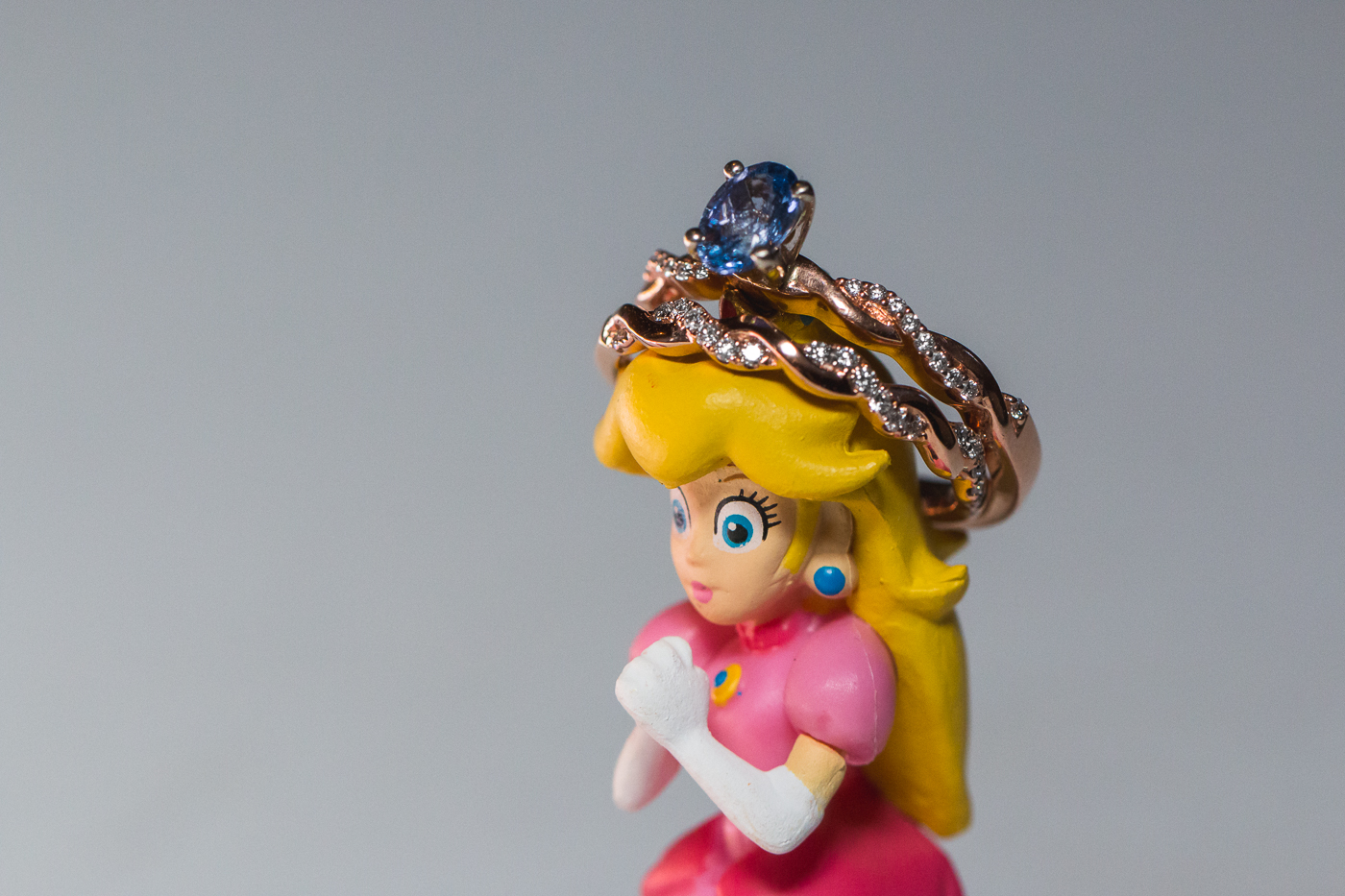 princess peach wedding ring