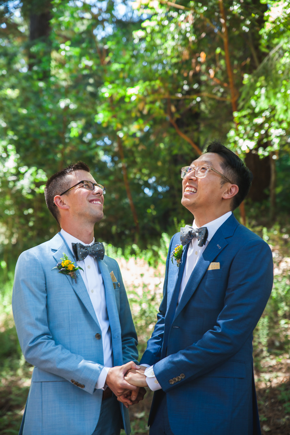 blue suit two grooms