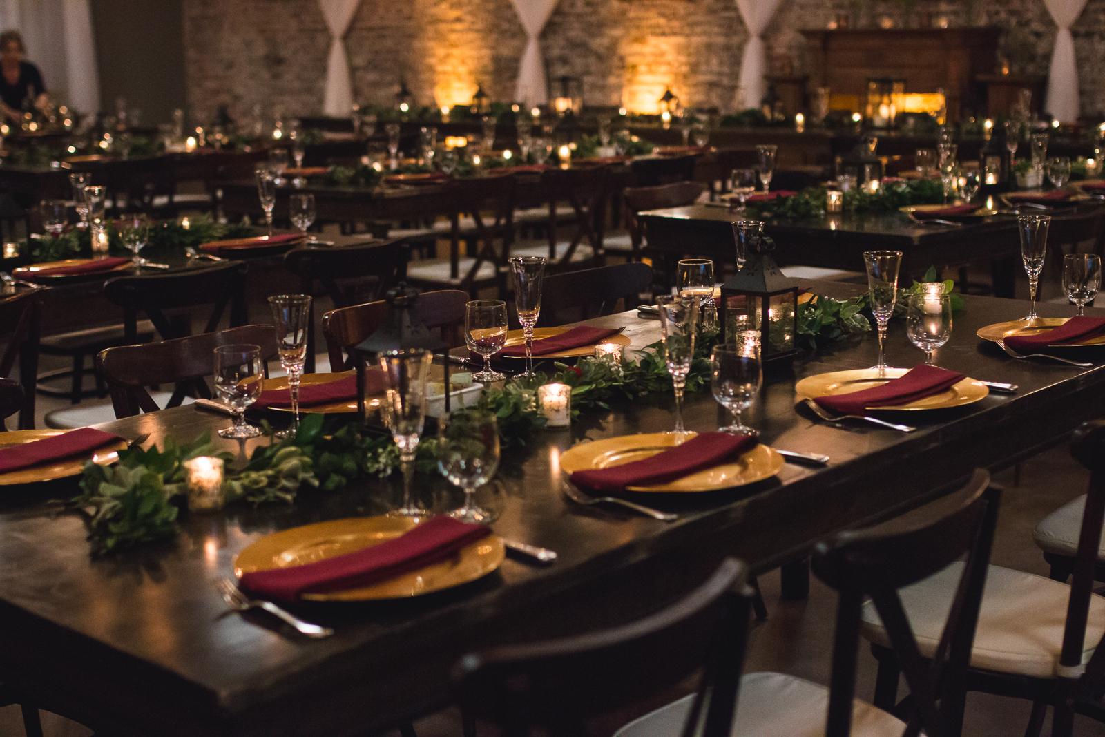 greens on tenth wedding reception