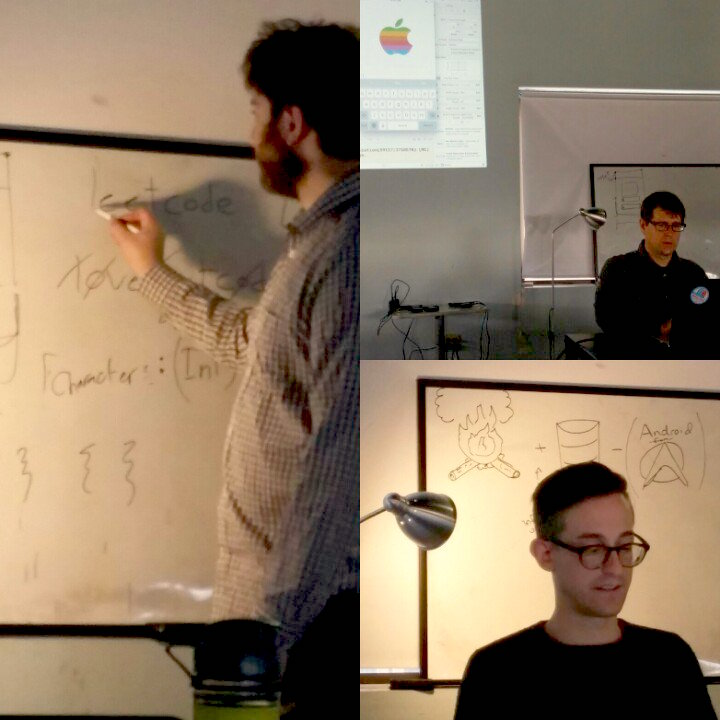 Ben Stone, Jason Gresh, and Louis Tur each on their last day of teaching new material.