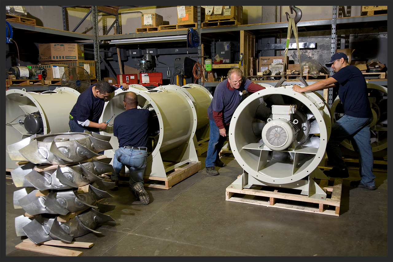 Working on Aerovent Fans