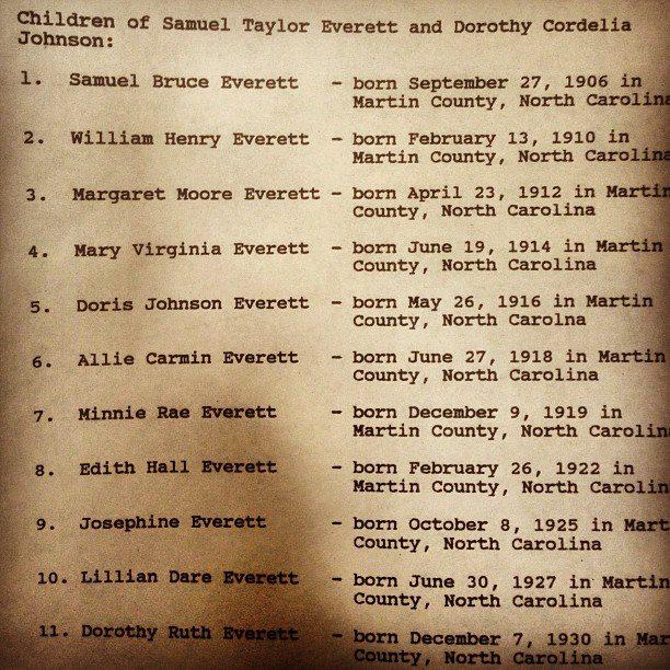 The 11 Everett Siblings