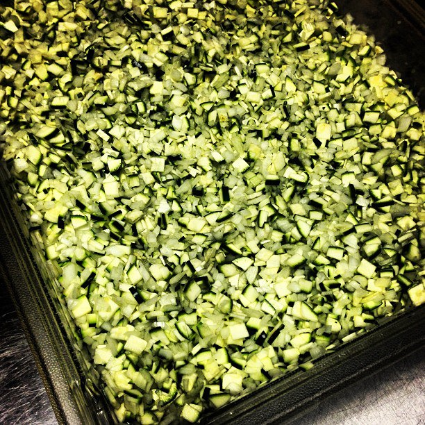Chopped Zucchini for ZUCCHINI RELISH