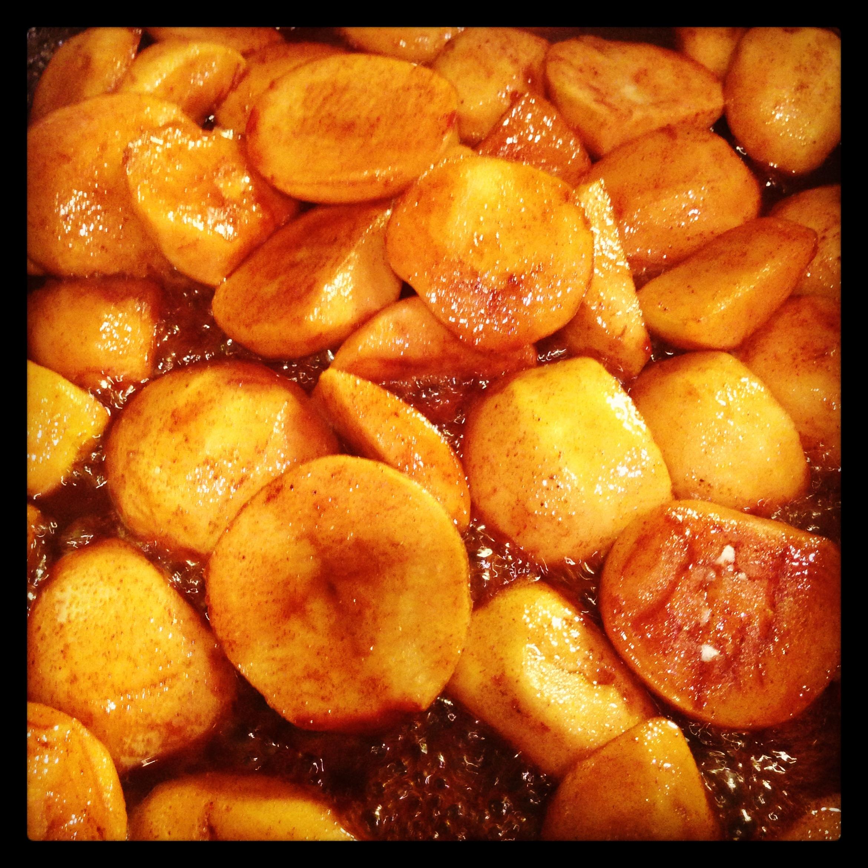 The Sweet Potato Butter process begins...