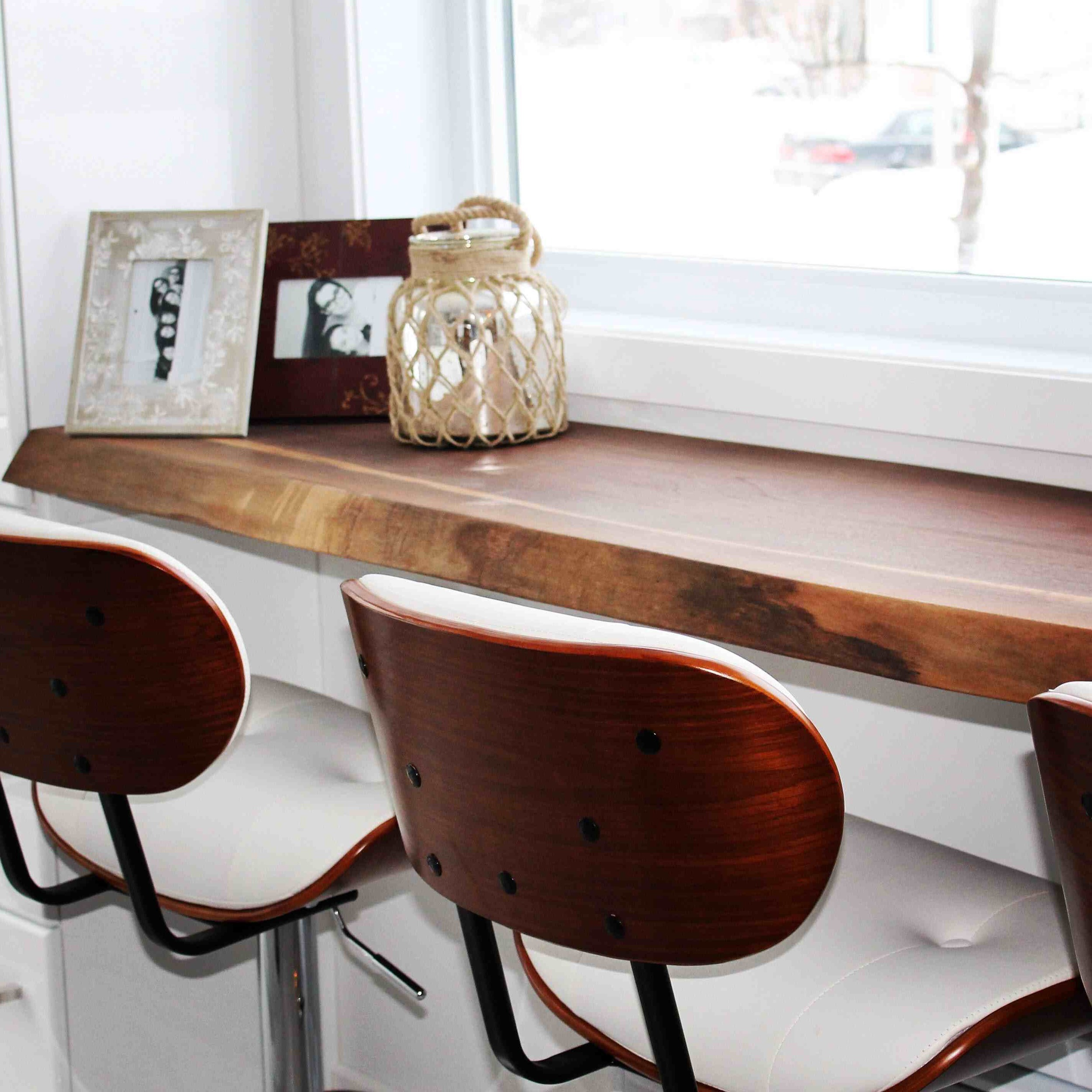 Live edge black walnut countertop