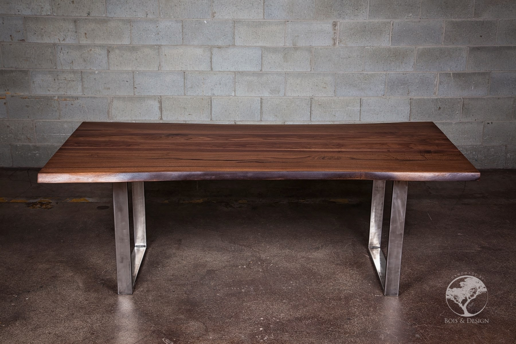 Live edge black walnut dining table
