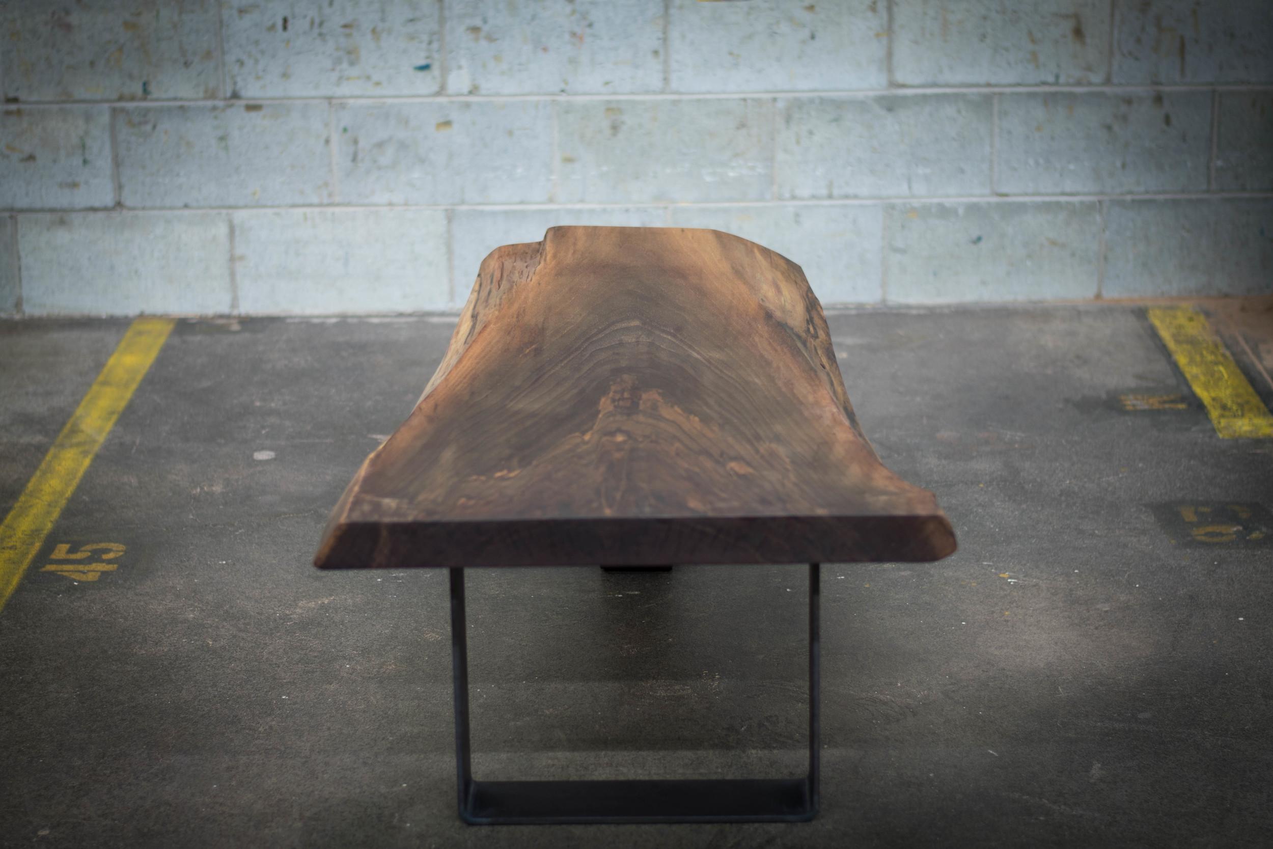 live edge black walnut coffee table