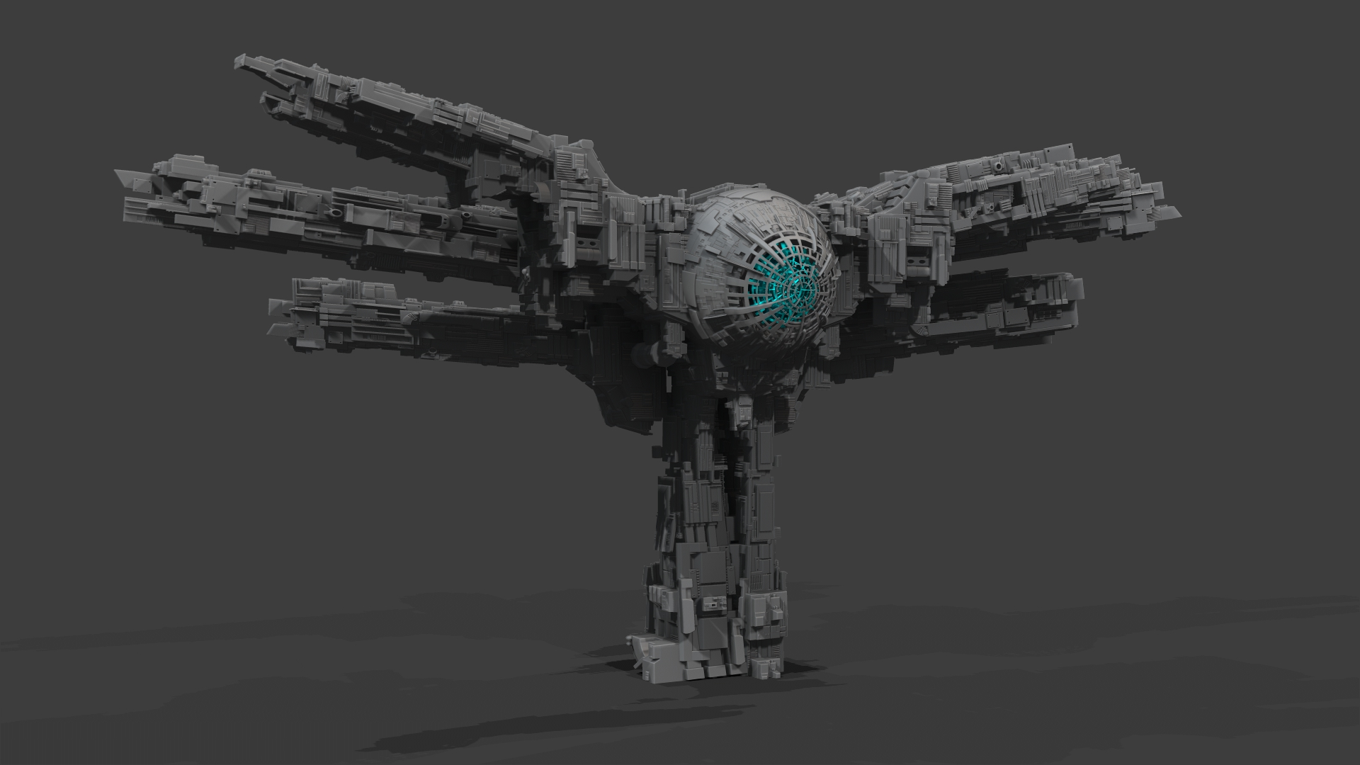Junkship design 6/12/13. Concept by  Sean Thurlow . Zbrush model by  Sterling Sheehy