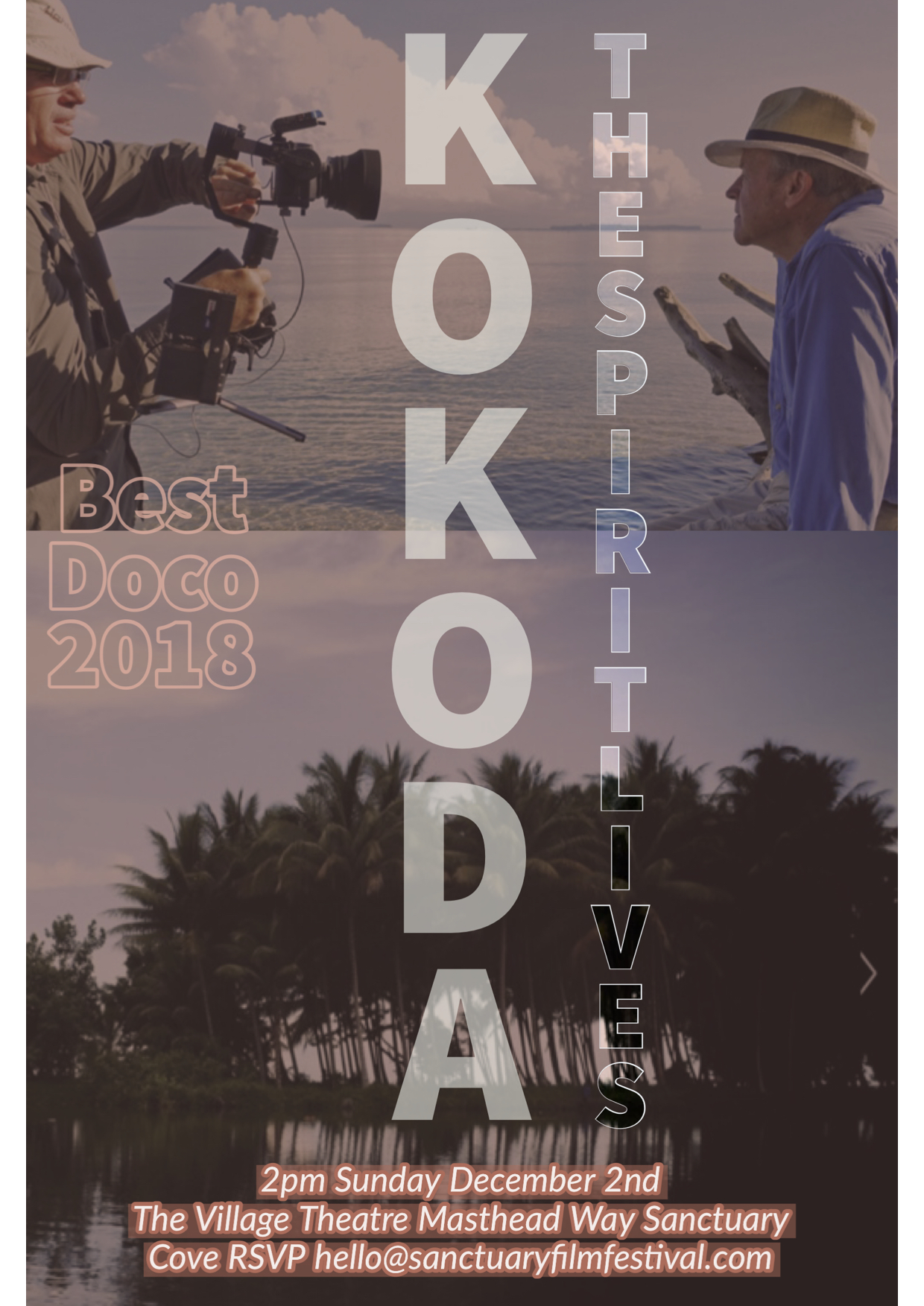 Our feature documentary, KOKODA, THE SPIRIT LIVES, won the best documentary award at the Sanctuary Film Festival. We're delighted and honoured.  #kokodathespiritlives   #kokoda   #WWII  #documentary   #sanctuaryfilmfestival   #limetreestudios   #Kokodacampaign