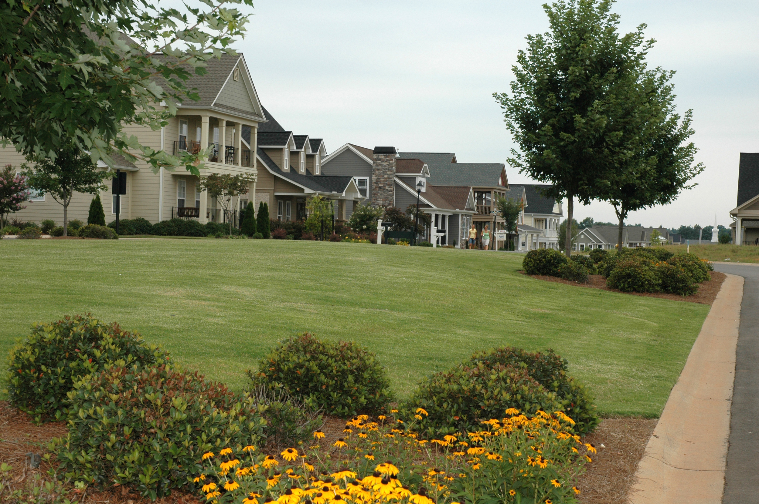 Typical TRG Community view with inviting greenspace and inspiring streetscape. Verdmont: Simpsonville, SC