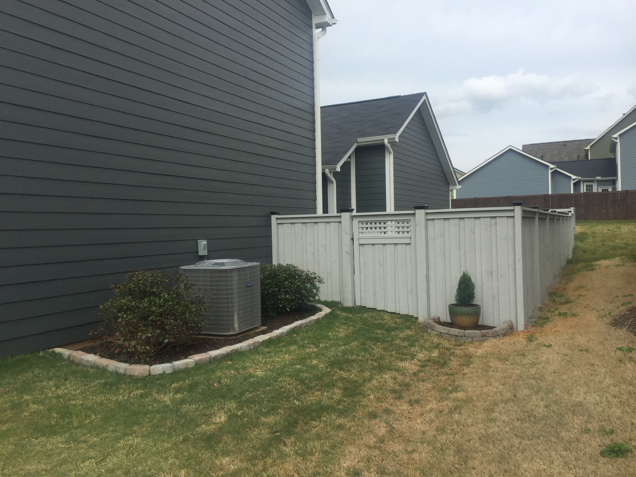 Rear 5' Charleston Solid Fence (Painted)