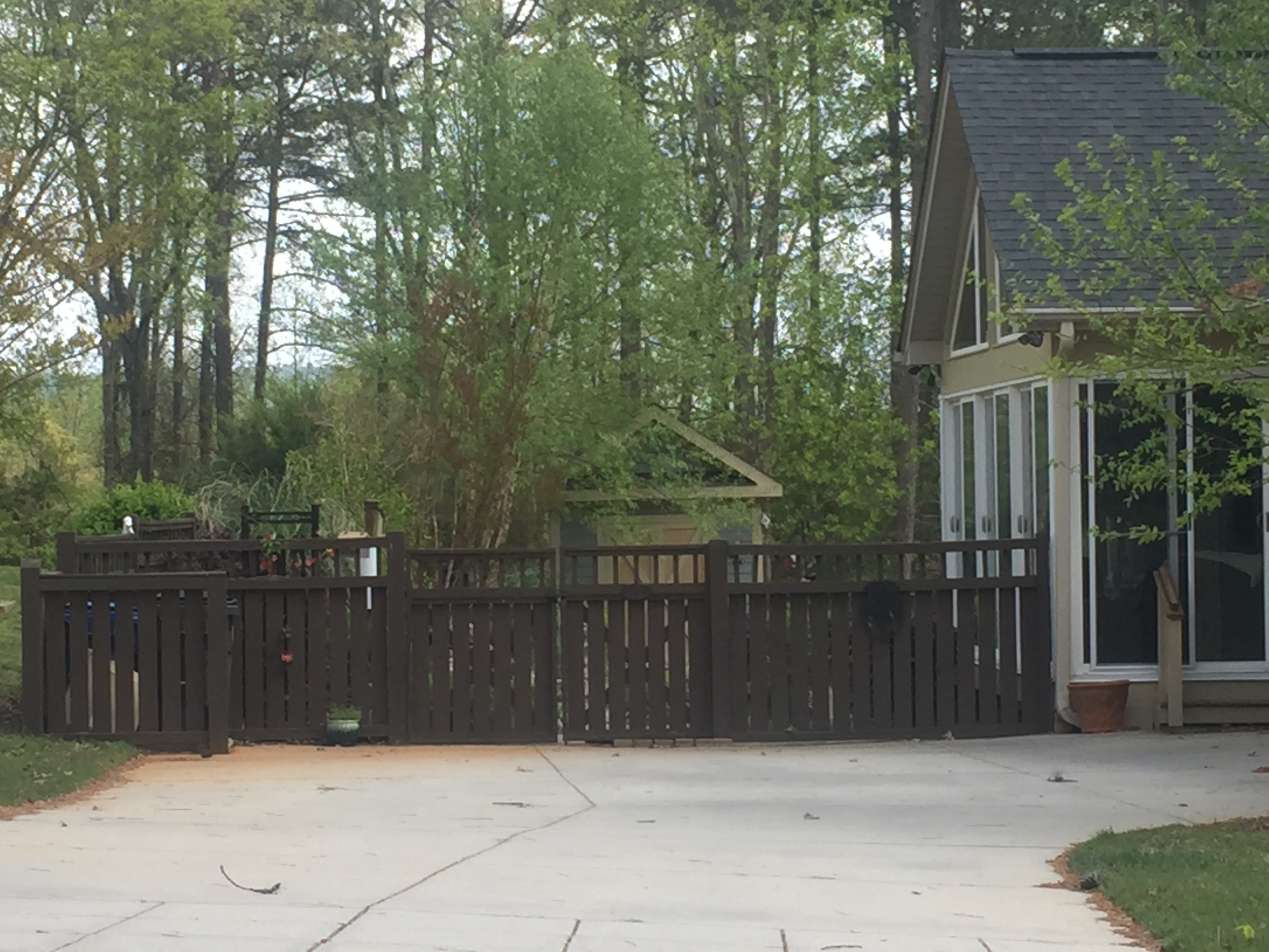 Rear 5' Board/Picket Top Fence (stained)