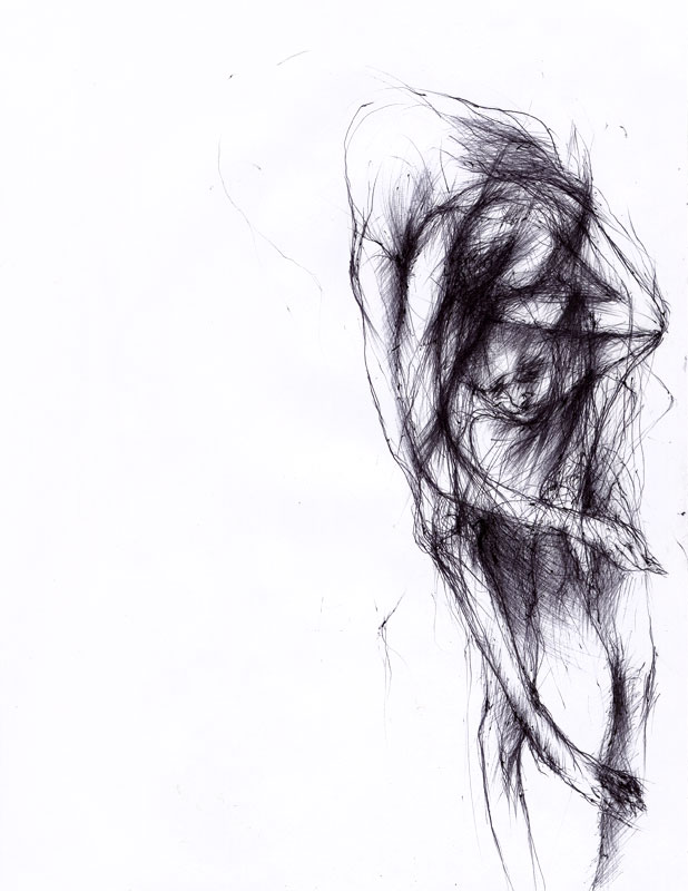 Untitled, 2007, ballpoint pen on paper