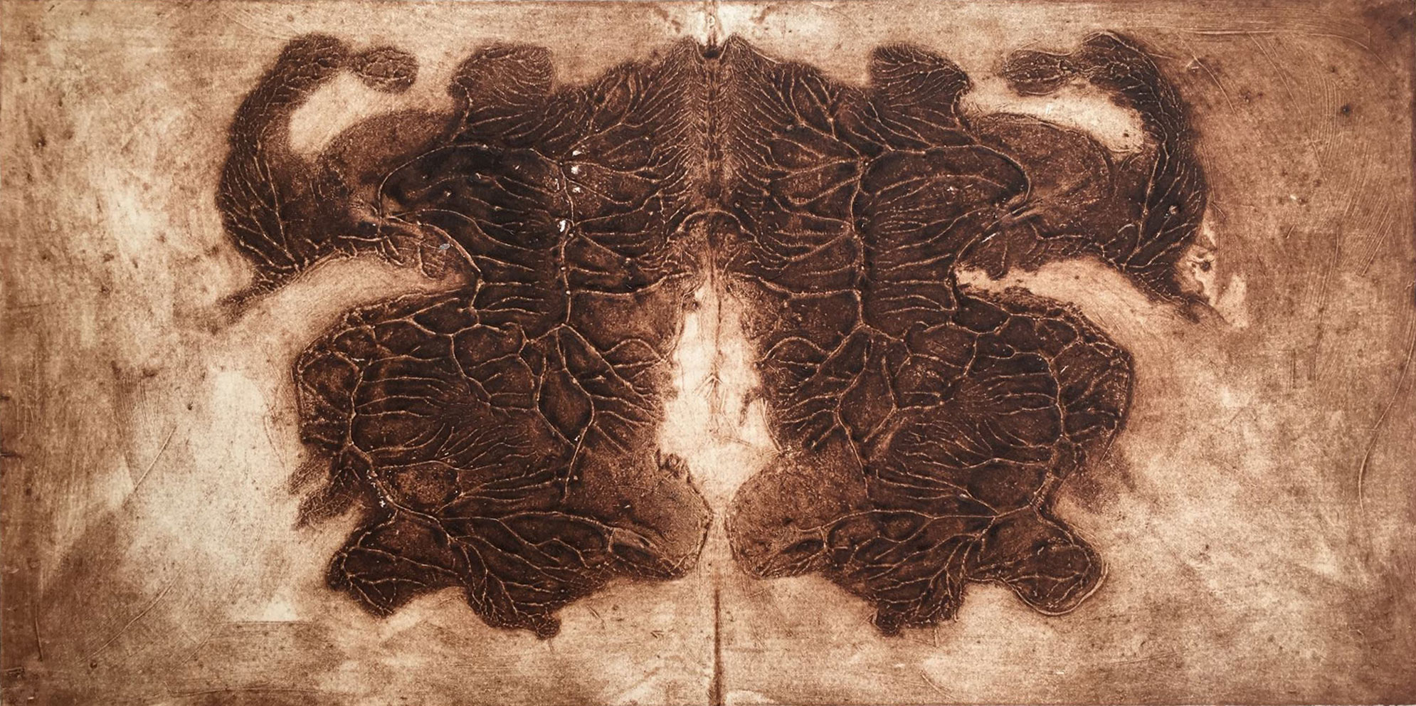 Untitled, 2018, collagraph