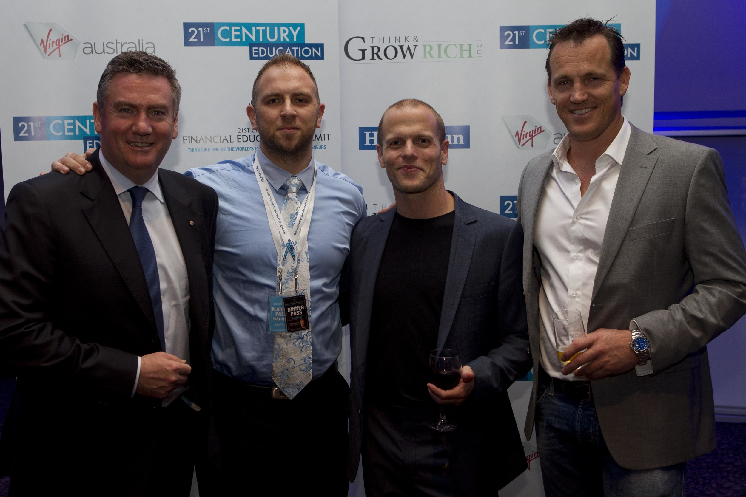 Eddie McGuire, and World Best Selling Author Tim Ferriss