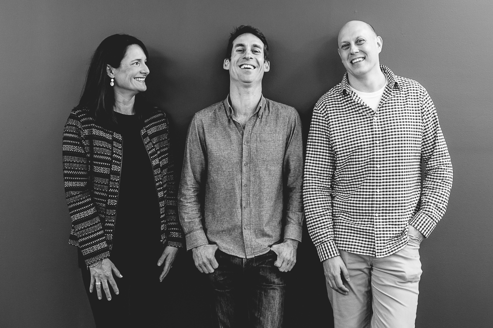 The Workery founders (from left) Delia Timms, Russell Miles and Jeff Bonnes  (Image courtesy Delia Timms)