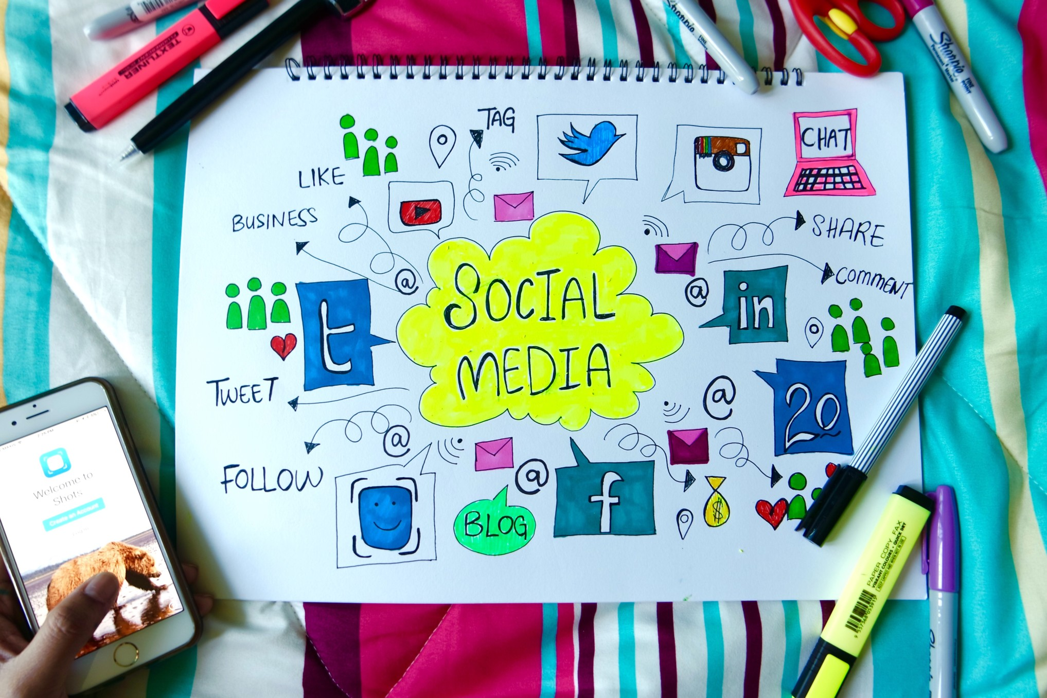 An effective social media engagement strategy needs to complement an influencer's writing efforts