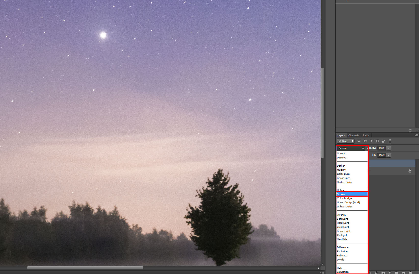 Step three in Photoshop - Boost up the Stars - Duplicate The Layers