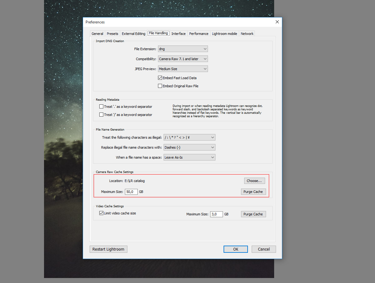 For faster Lightroom set a bigger cache size up to 50 GB should make it