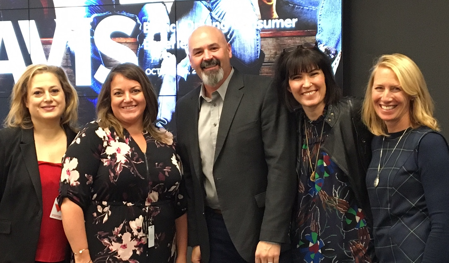 Agenese Monteleone, Kelly Straus, Mark Roberts, Sara Merrifield and Jennifer Bellington visited Canadian Tire in October to lead the first session in the Launch Pad Learning Series.
